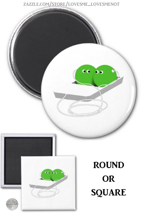 Two Peas In A Pod Magnet by LovesMeLovesMeNot at Zazzle  We are like two peas in a podor is it an ipod A little play on words with these cute peas looking at each other...