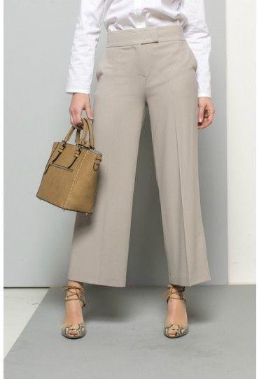 In deze stijlvolle broek met pijpen die boven de enkels vallen, zie je er up-to-date uit.