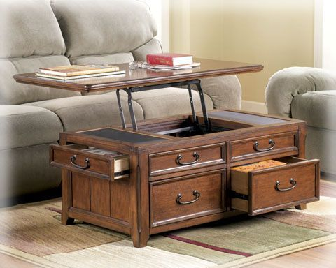 Ashley Furniture Woodboro Lift Top Cocktail Table Coffee Table With Storage Coffee Table Trunk Coffee Table