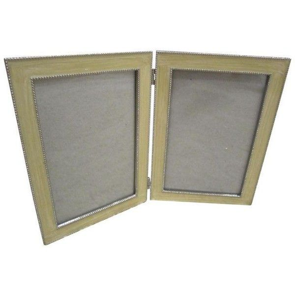 double enamel picture frame 20 liked on polyvore featuring home home - Double Picture Frames