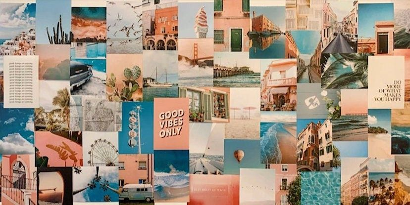 12 Summer Wall Collage Kits On Etsy That Ll Give Your Room An Insta Update Wallpaper Notebook Desktop Wallpaper Art Aesthetic Desktop Wallpaper