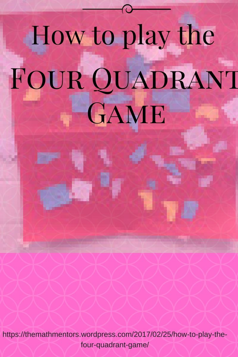 How to play 4 quadrant game|math games|algebra activities|middle school math|maths 7-12