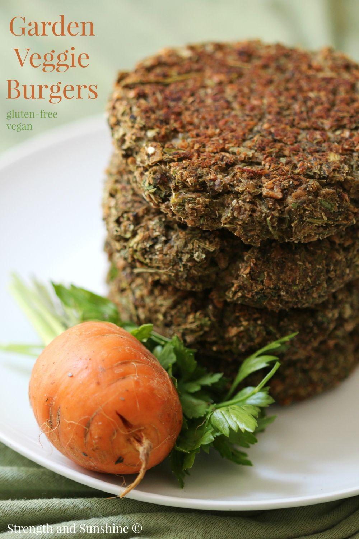 Garden Veggie Burgers | Recipe | Veggie burgers, Gluten free vegan ...