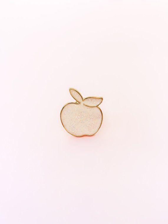 Pastel Pink Apple Enamel Pin - Snow White Pin - Disney Pin