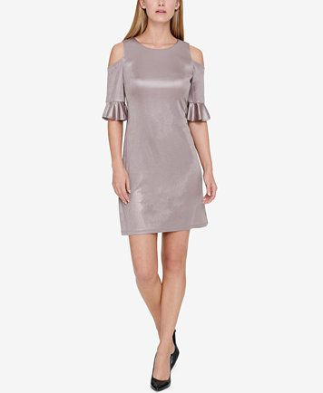 19e192c693b Tommy Hilfiger Ruffled Cold-Shoulder Dress | macys.com | Shiver Me ...