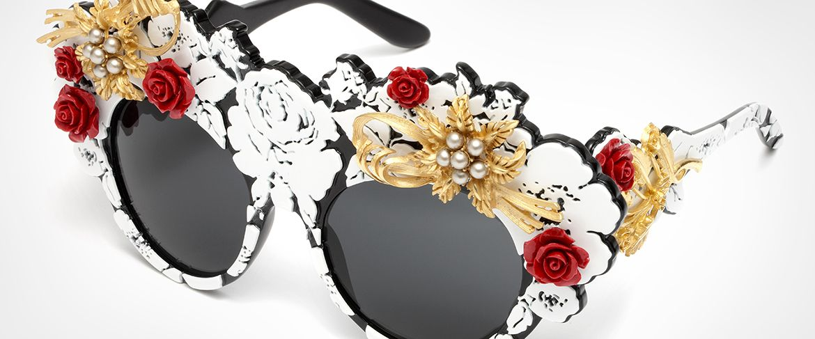 52b86fcc4f7 Mama s Brocade collection by Dolce   Gabbana  women s sunglasses and  eyeglasses with oversize frame