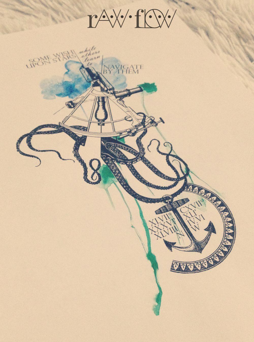 Photo of Anker Krake Tätowierung Vintage Aquarell, #Anchor #Octopus #Tattoo #traditionaloctopustattoo …