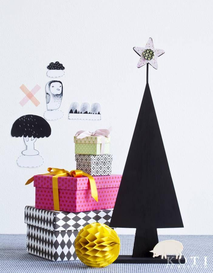 Värikästä ja mustaa pöydälle. Koti ja keittiö, Johanna Ilander, kuva Fabian Björk.