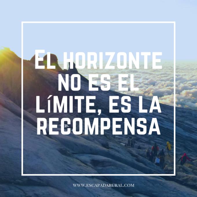 El horizonte no es el límite, es la recompensa