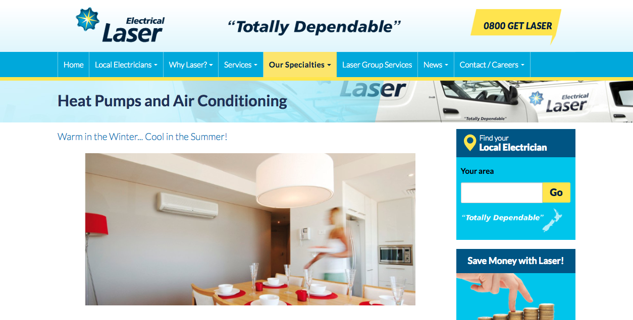 Laser Electrical Heat Pumps And Air Conditioning Heat Pump