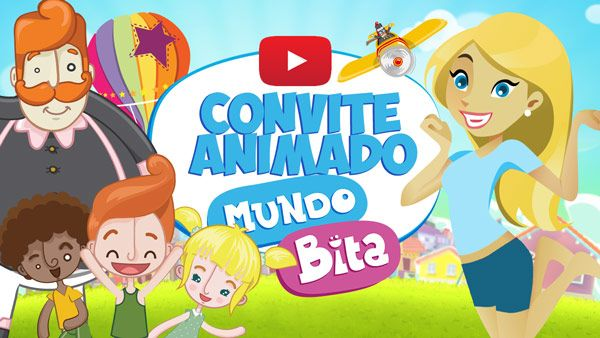 Convite Animado Virtual Mundo Bita Gratis Para Download Convite