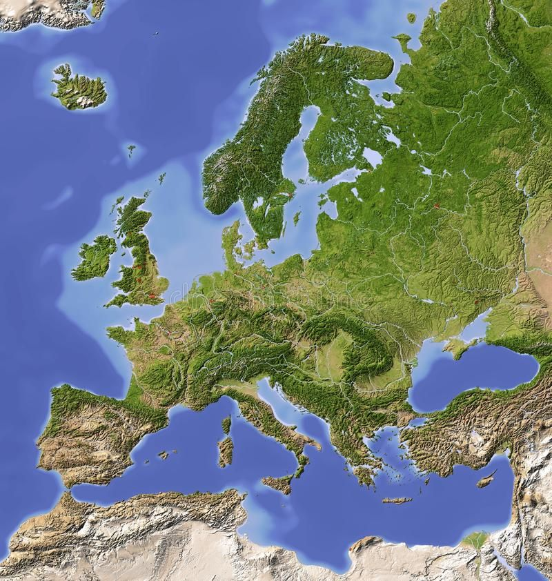 relief map of europe Shaded relief map of Europe. Europe. Shaded relief map with major