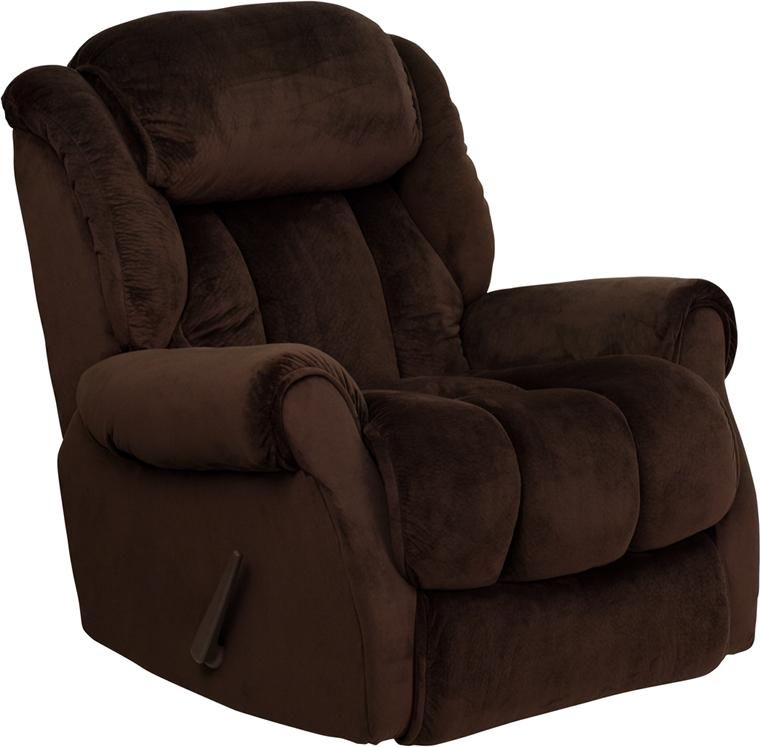 Microfiber Stylish And Comfortable Chaise Recliner Dark Chocolate Brown Upholstery High Quality Leggett Platt