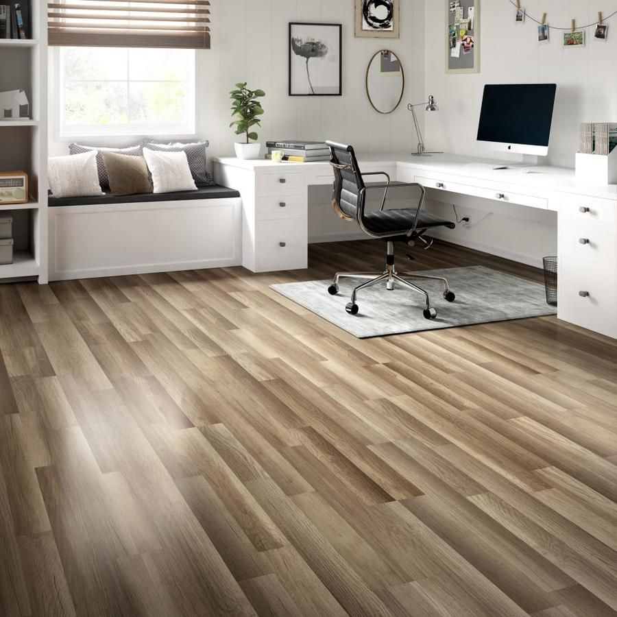 Style Selections Aged Gray Oak 7.59in W x 4.23ft L