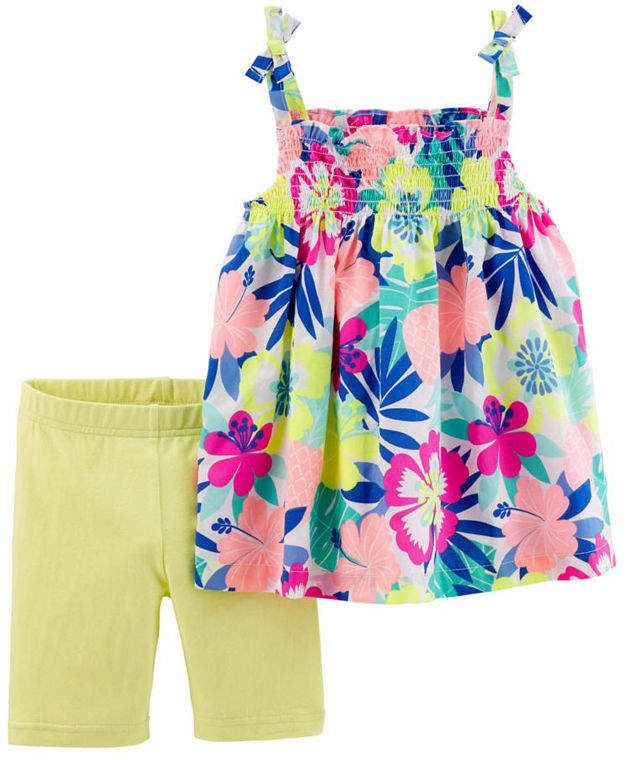 84e921863 Carter's 2-pack Short Set Toddler Girls | Outfits | Carters baby ...