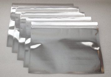 100 Silver//Clear Foil Pouches Mylar Ziplock Bags Smell Proof Packaging 7x5.5