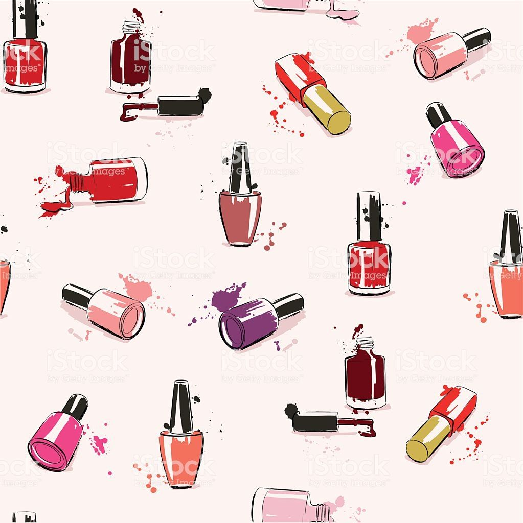 Drawing vector illustration with nail polish and splash