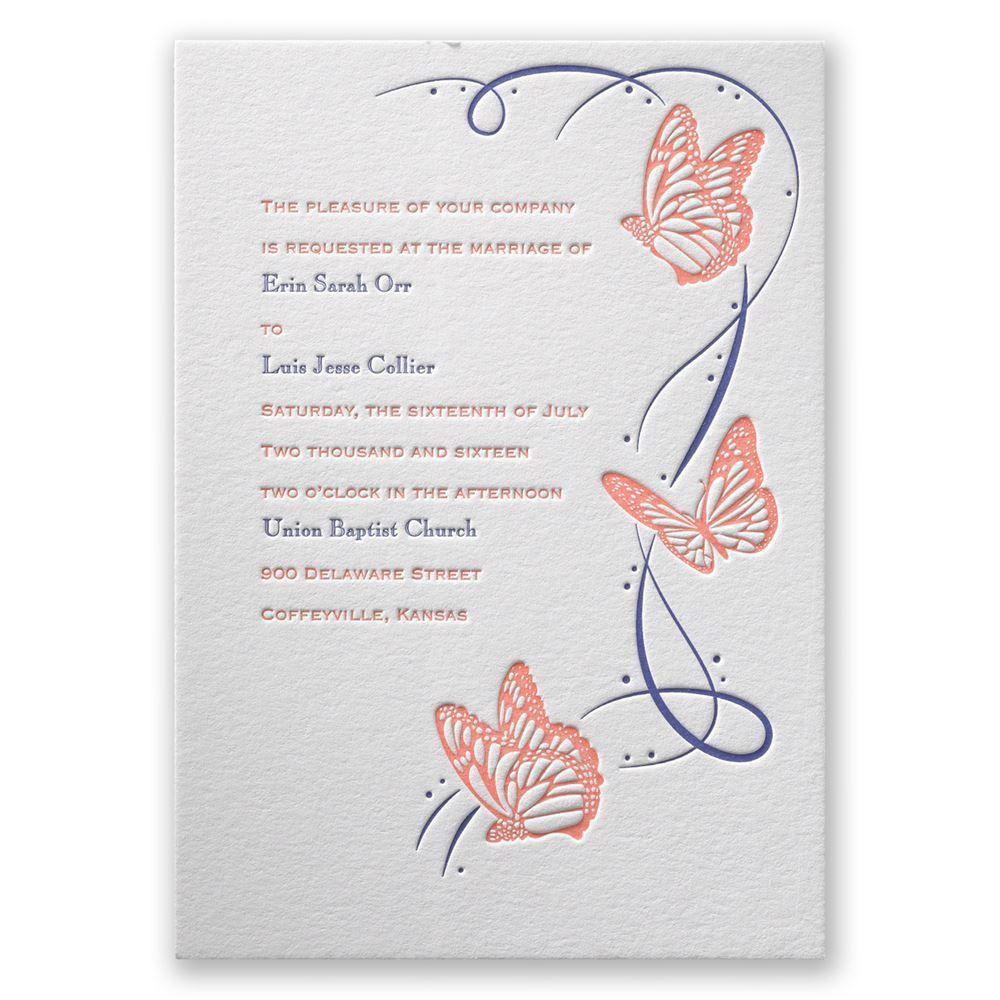 Butterfly Wedding Invitations Templates Designs | Invitations Card ...