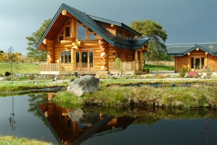 pioneer log homes love log cabins american lifestyle living pinterest holzhaus. Black Bedroom Furniture Sets. Home Design Ideas