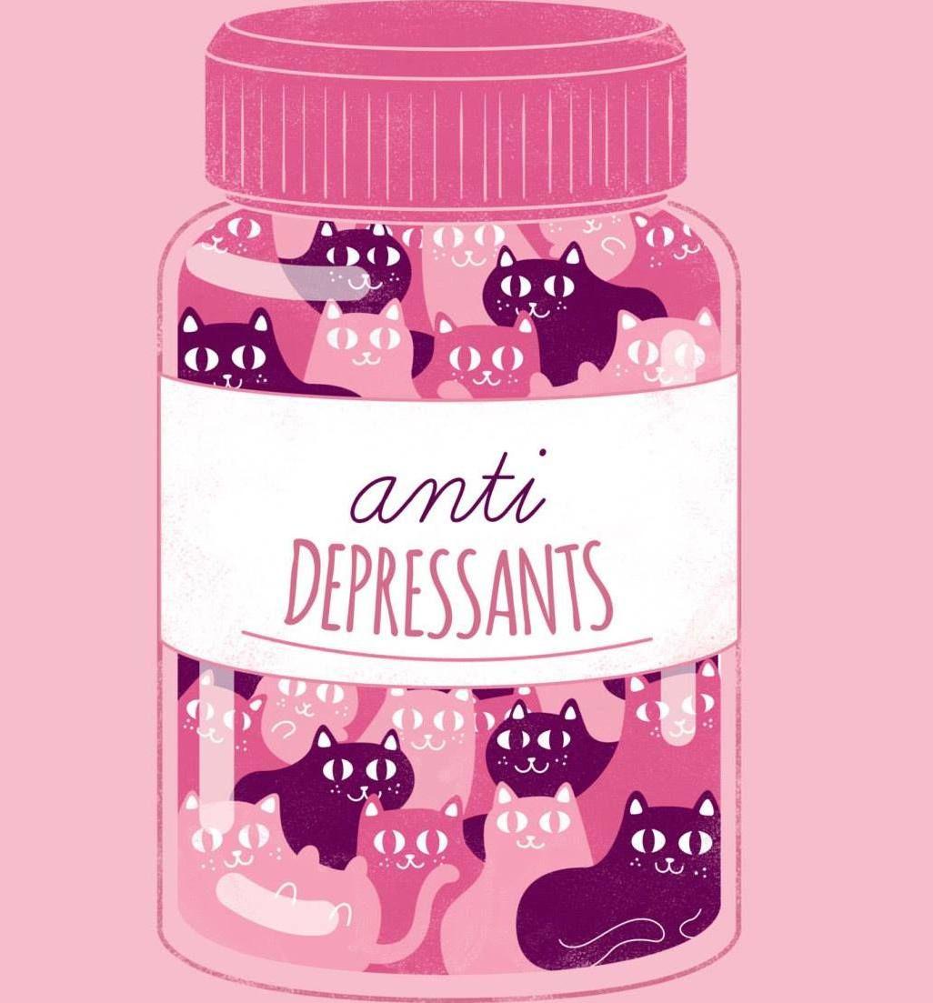Kitten Therapy For Angstgiving And More Posters De Gatos Dibujos De Gatos Gatos