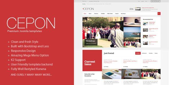 Cepon - News and Magazine Joomla Templates | Website