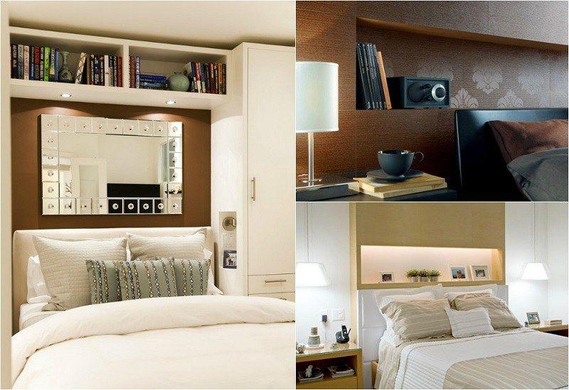 Tête de lit avec rangement en 57 dées pour ranger et décorer