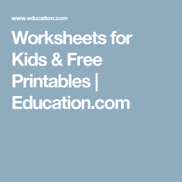 Worksheets for Kids & Free Printables | Education.com | anger ...