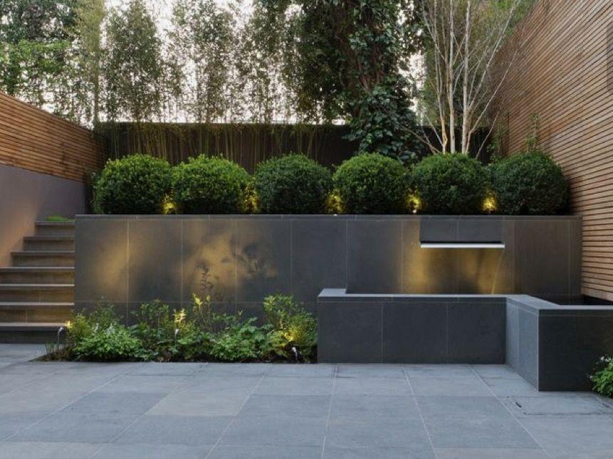 Clean Minimal Green And Lighting Modern Backyard Landscaping Modern Garden Design Modern Landscaping