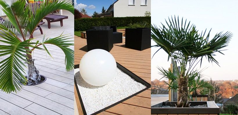 Des jardinières incorporées pour décorer ma terrasse composite