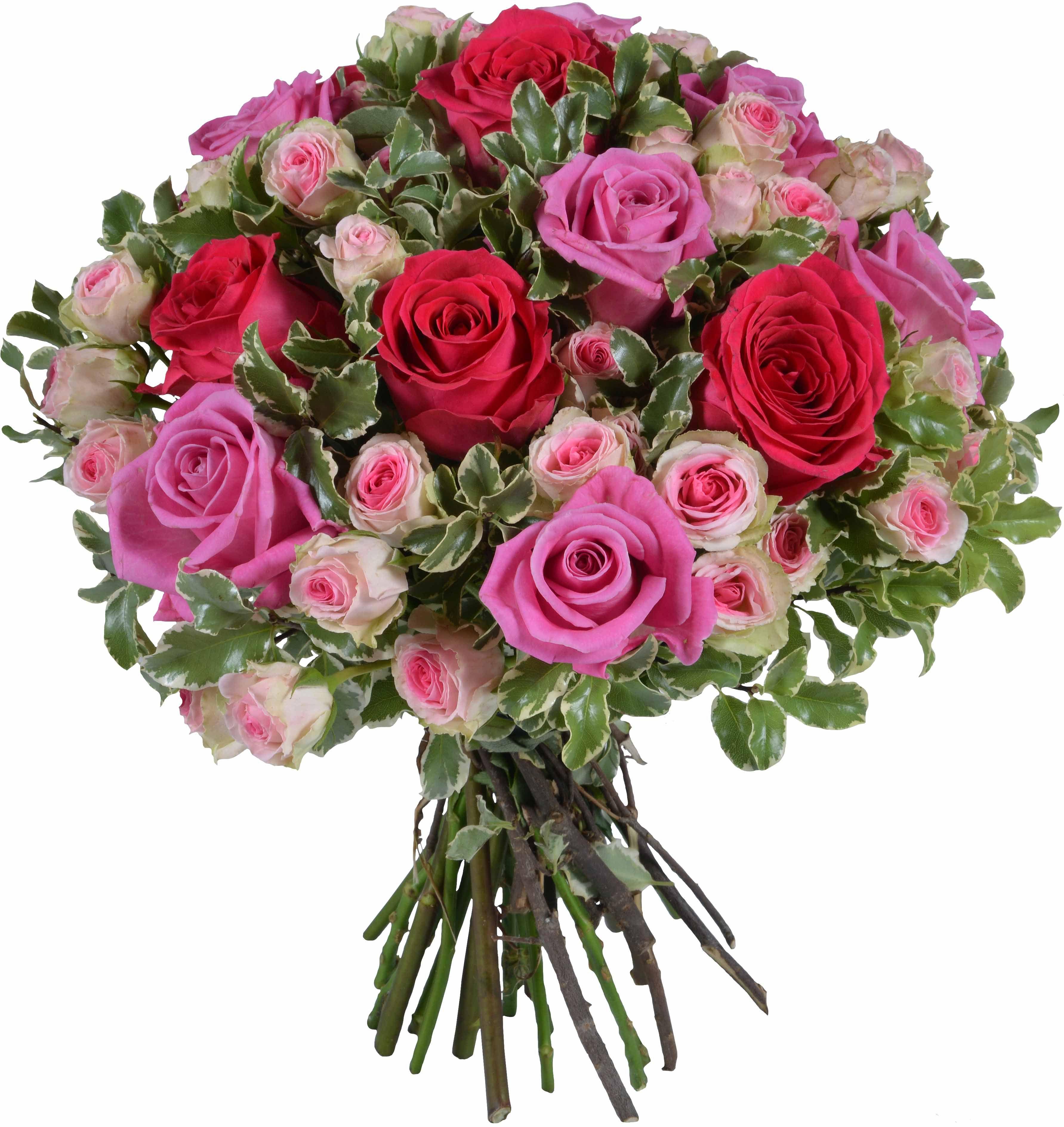 Sublime Bouquet De Roses Rouges Et Rose Une Composition Pleine