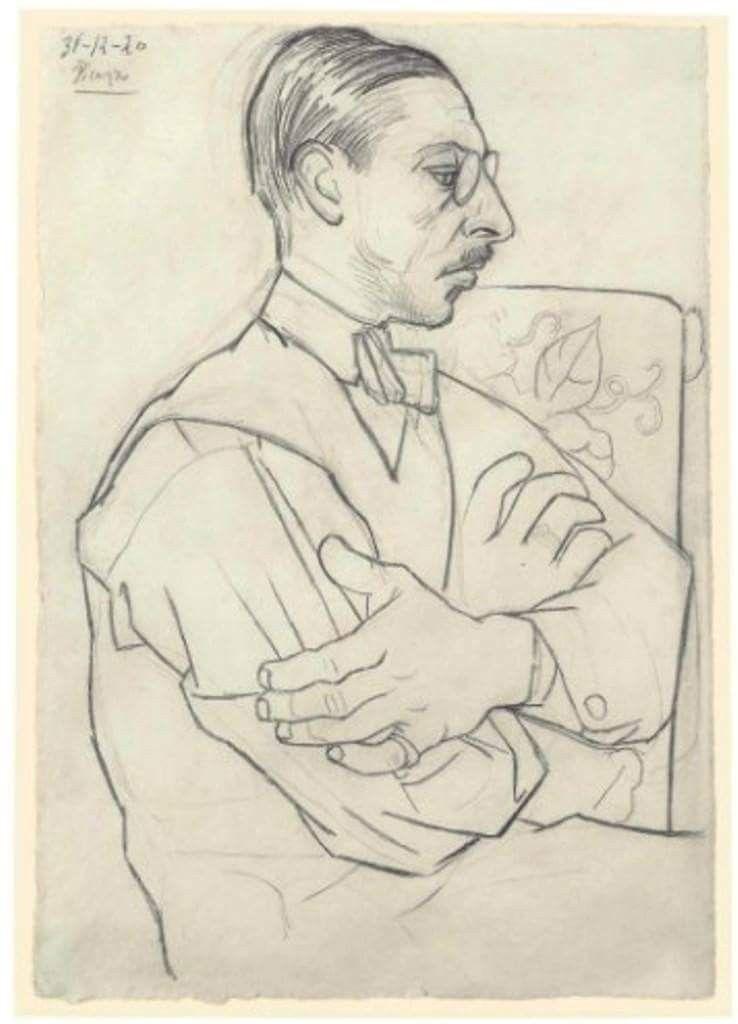 Pablo Picasso Ritratto Di Igor Stravinsky In Profilo 1920