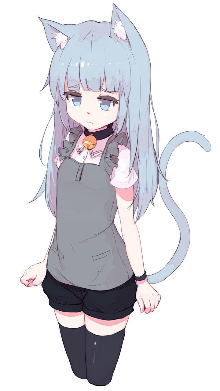 Anime cat girl nekomimi neko girl cat girl