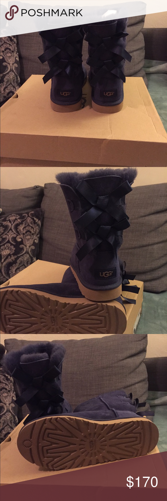 a92ca69cfcf UGG BAILEY BOW BOOTS Navy blue, NWB, NWT UGG Shoes Winter & Rain ...