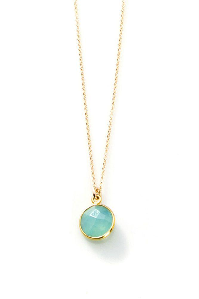 Joy Dravecky Bezel Stone Pendant Necklace