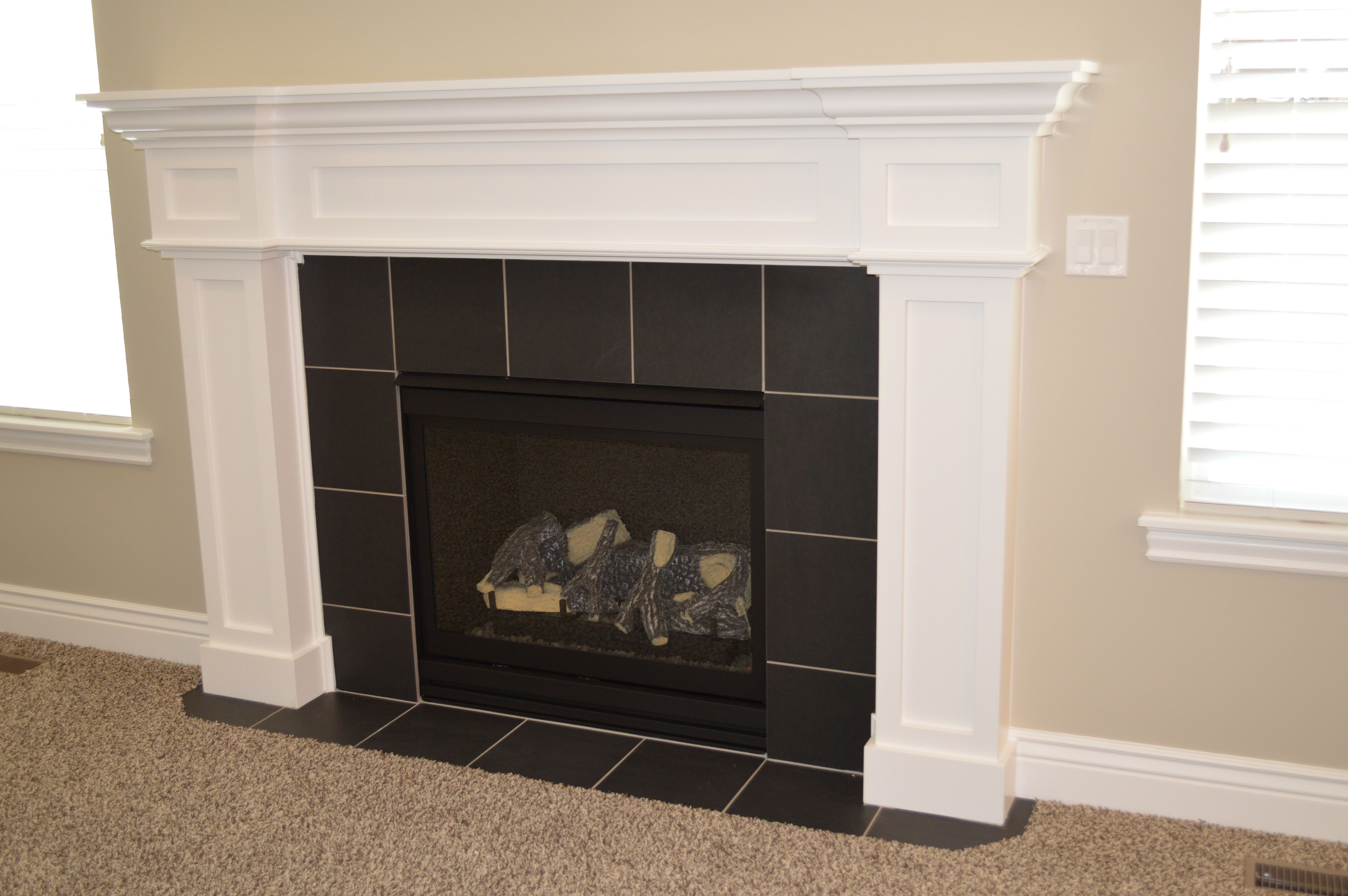 Unique Fireplaces Unique Fireplace Mantle With Tile Surround Craftsman Cantata