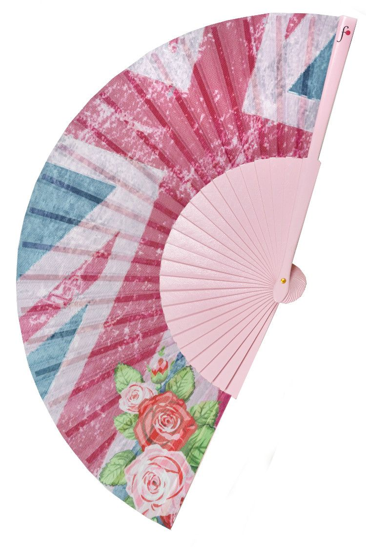English rose union jack pink retro grunge print folding