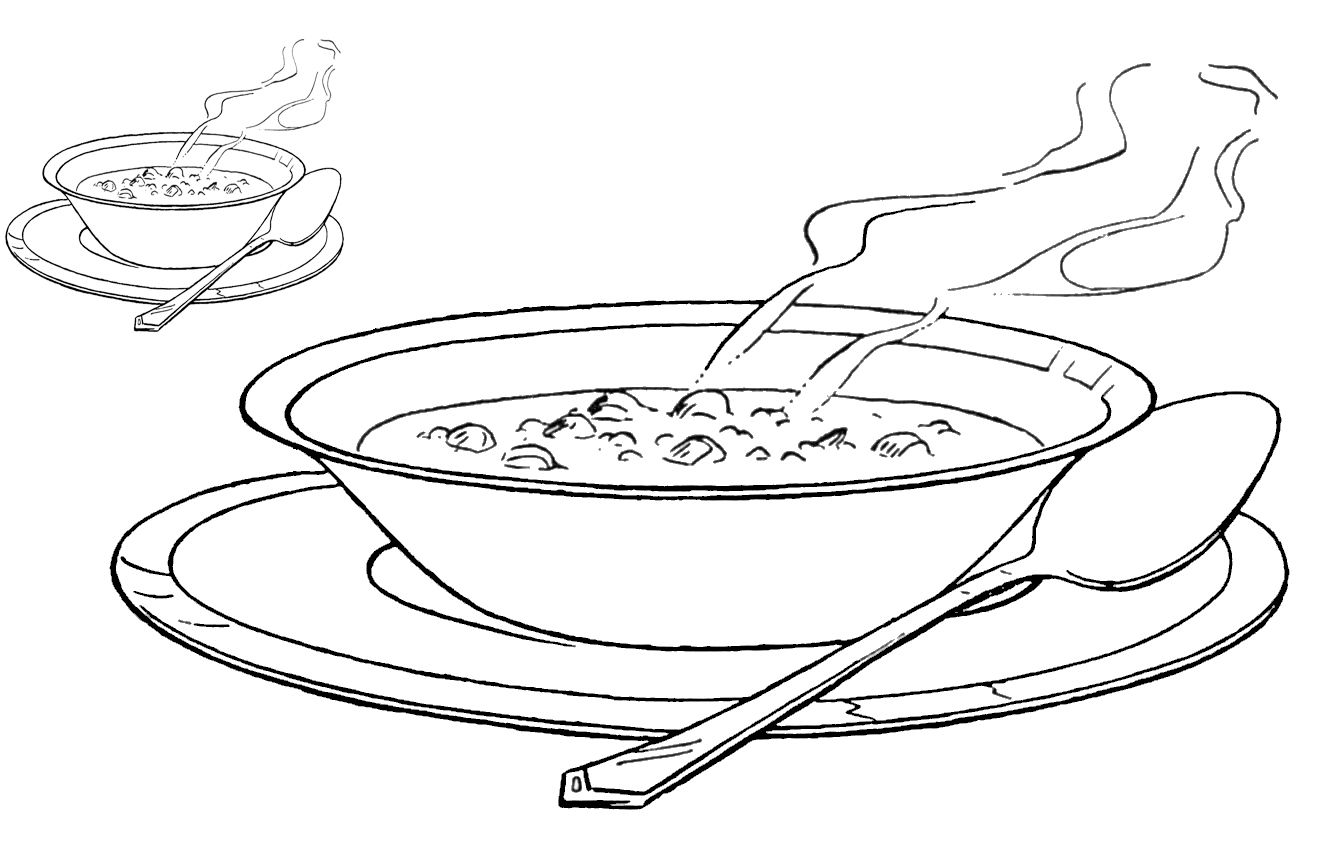 Printable Soup Bowl Coloring Pages