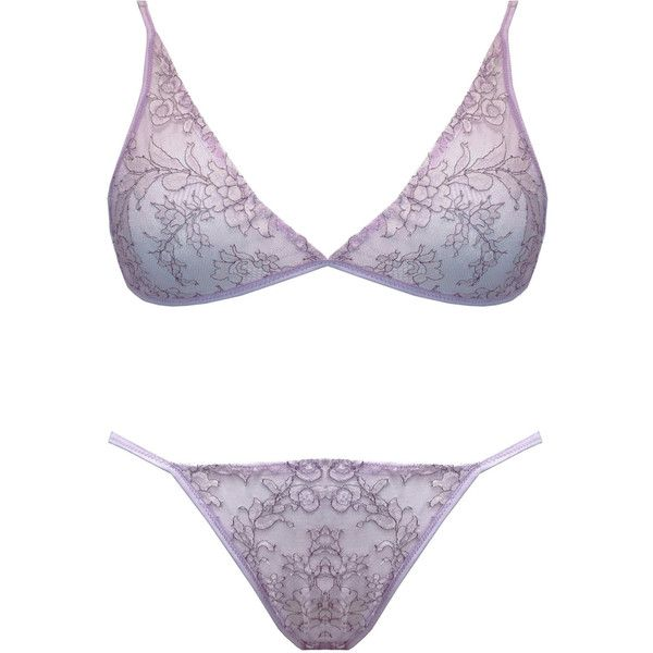 643e87ebc27 Chantilly Lace Mauve Lace Soft Bra and Panty Lingerie Set Lingerie... ( 98)  ❤ liked on Polyvore featuring intimates