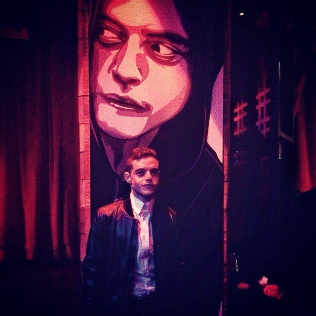 Gorgeous work of art by Joe Iurato + Logan Hicks paired with the equally striking Rami Malek   #MrRobot #WhoIsMrRobot #FSociety #BestShow #IntelligentTV #Hackers #Art #Creative  #VisualInspiration #BeautifulColors #Mesmerizing #Striking #Gorgeous #Compelling #RamiMalek #ElliotAlderson #TriBeCa #JoeIurato #LoganHicks #NY #Repost