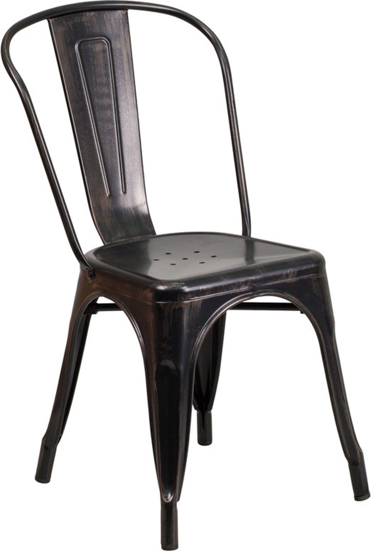 Lightweight stackable chairs - Flash Furniture Metal Indoor Outdoor Stackable Chair