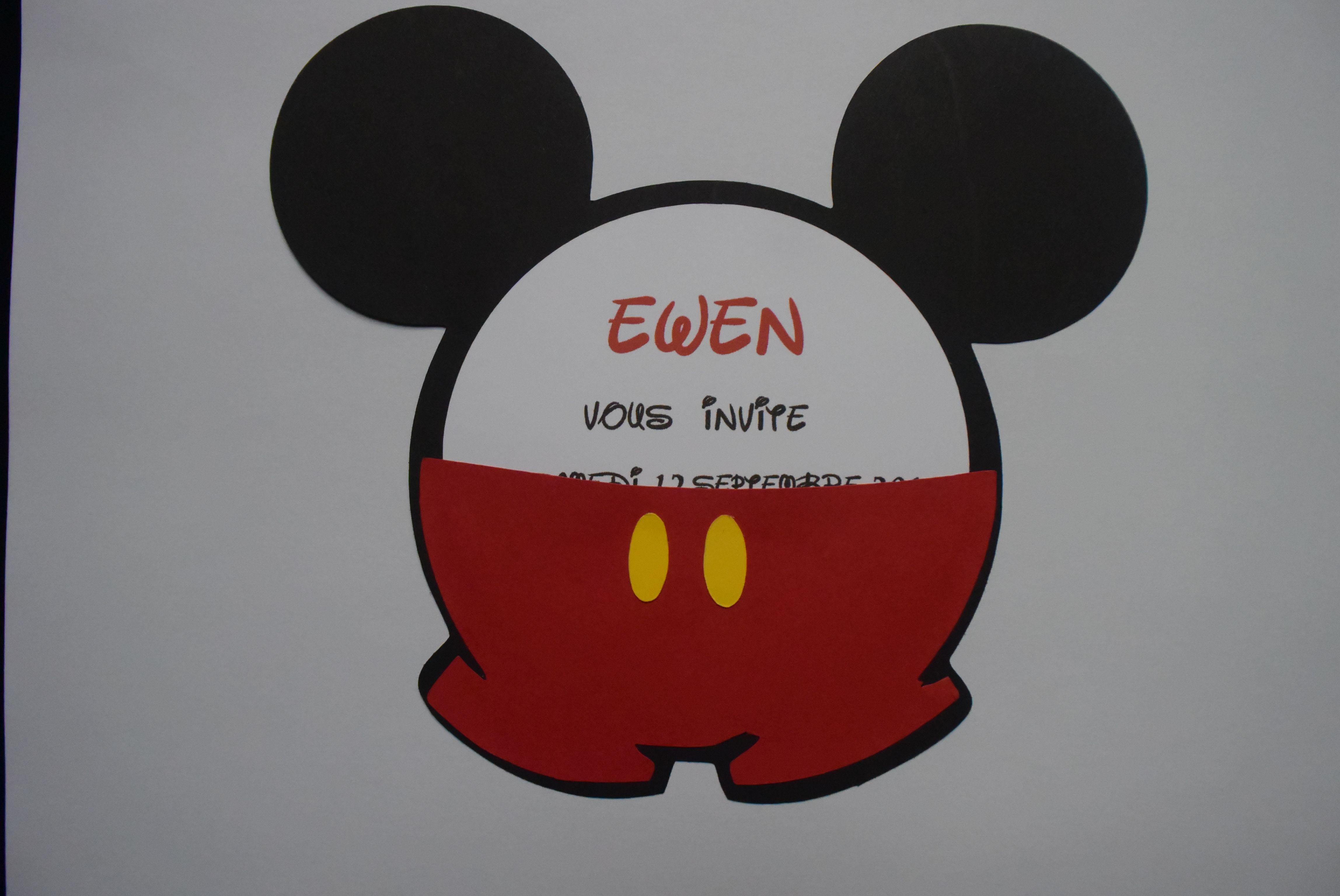 Carte Anniversaire Mickey Faire Part Rond Decorations Mickey Anniversaire Mickey