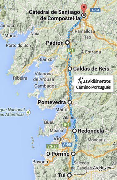 Guía Resumen Con Toda La Información De Nuestra Experiencia En El Camino De Santiago Portugués Camino De Santiago España Santiago De Compostela Mapa De Galicia