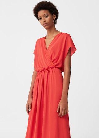 5de4a5fc8c Długa lejąca sukienka - Kobieta