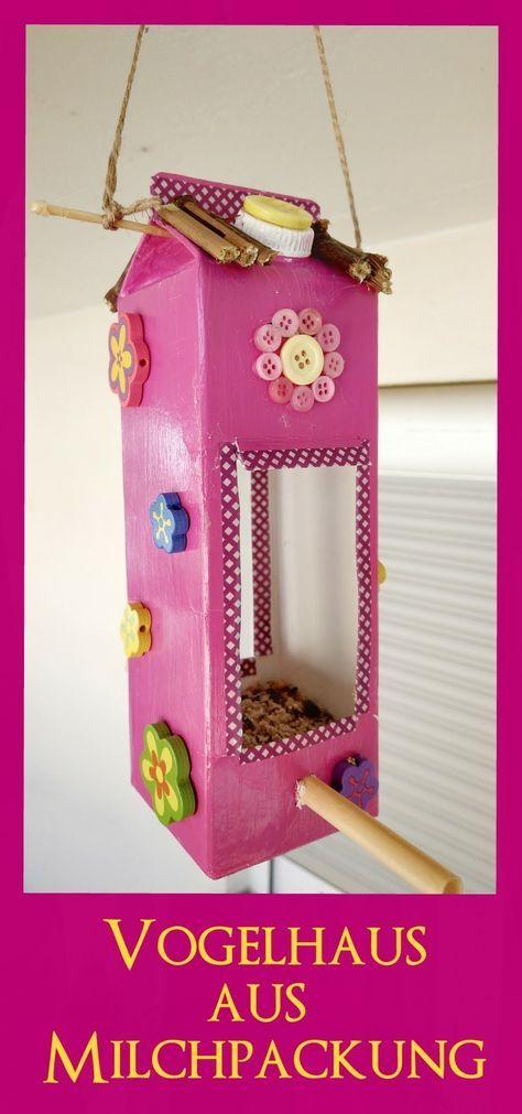 Vogelhaus aus Milchtüten basteln – Mit Kindern ein Futterhaus selbermachen – kleinliebchen