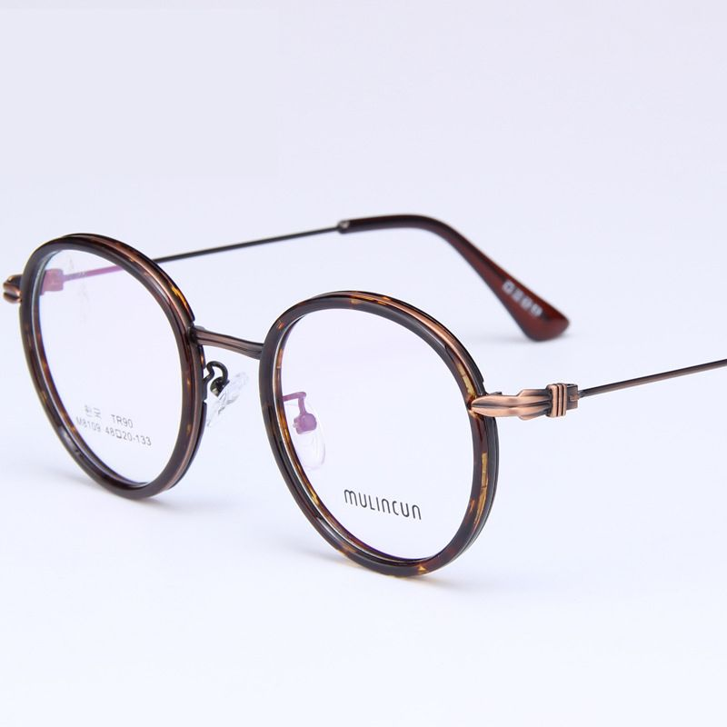 14a9da0c69 light not fade alloy and TR90 round retro optical eyewear frame with plain  lens for women men wholesale alibaba YS8109