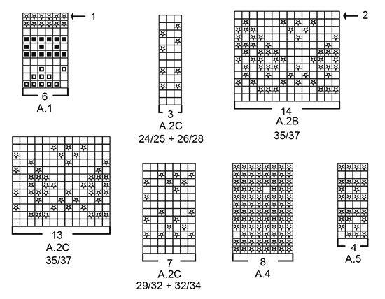 Calcetas de punto con patrón de jacquard nórdico para niños. Números ...