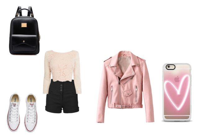 """""""For school"""" by annaii14 ❤ liked on Polyvore featuring LE3NO, Coast, Converse, Casetify and BackToSchool"""