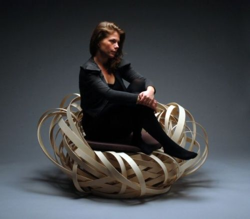 Moderna Silla Nest Inspirada en la Naturaleza