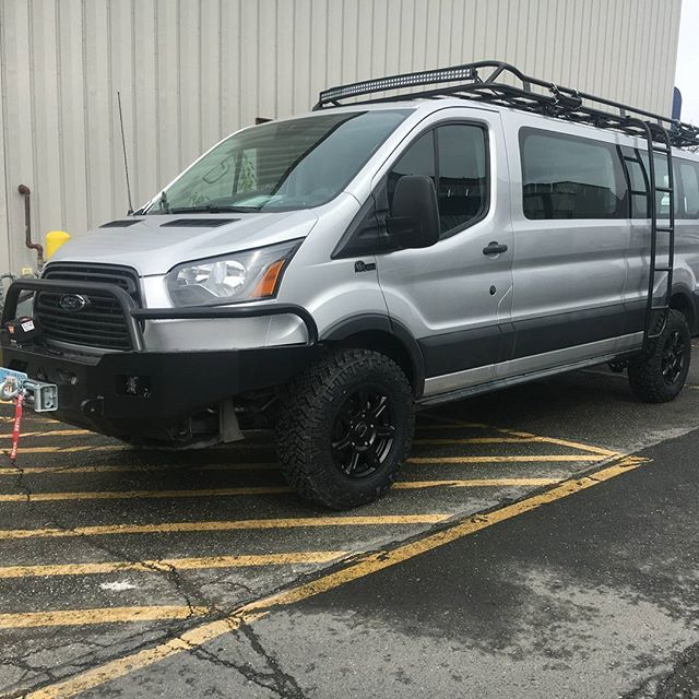 Ford Transit outfitted with Aluminess gear by @totaltruckak in
