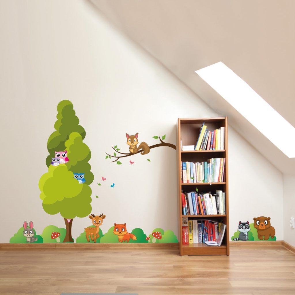 Muurstickers Kinderkamer Goedkoop.Bosdieren Muursticker Set Voor De Kinderkamer Babykamer